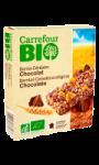 Barres Céréales Chocolat Carrefour Bio