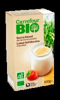 Sucre blond de canne en poudre Carrefour Bio