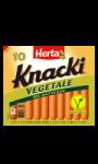 Saucisses végétales knacki au blé et pois Herta