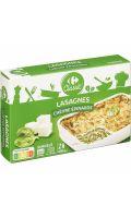 Plat cuisiné lasagnes chèvre épinards Carrefour Classic'