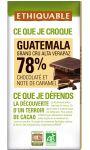 Chocolat noir 78% Guatemala Ethiquable